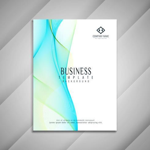 Disegno astratto modello di brochure business ondulato