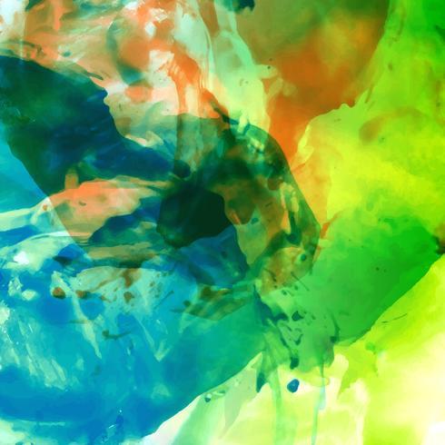 Abstrait aquarelle coloré brillant vecteur
