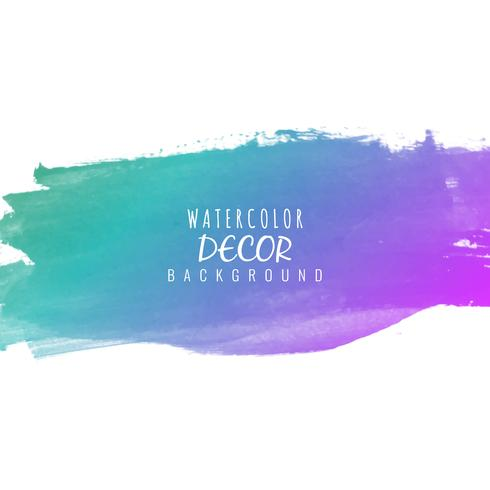Abstract colorful watercolor stroke design elegant background vector