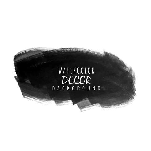 Abstrato preto aquarela mancha de fundo vetor