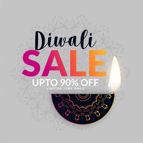 Fondo de diseño de banner de venta festival de Diwali