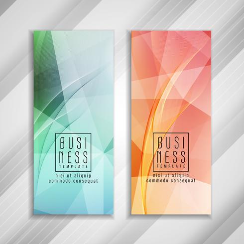 Disegno astratto colorato modello di business