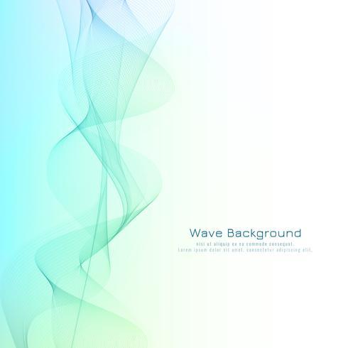 Abstrakt stilig blå våg design bakgrund