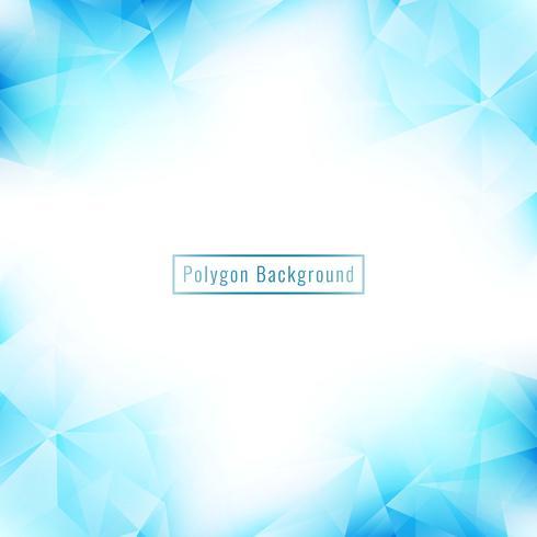 Abstrakt blå geometrisk polygon bakgrund