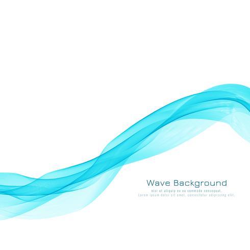 Abstrakt blå våg design elegant bakgrund