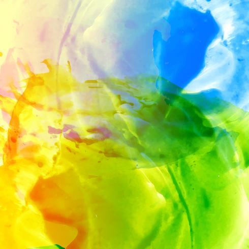 Fondo acuarela brillante colorido abstracto