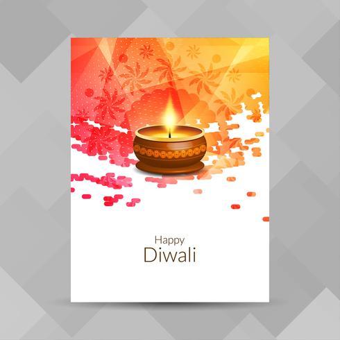 Abstrakt Glad Diwali religiös broschyr design mall
