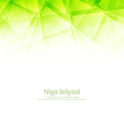 Abstract modern green polygon design background
