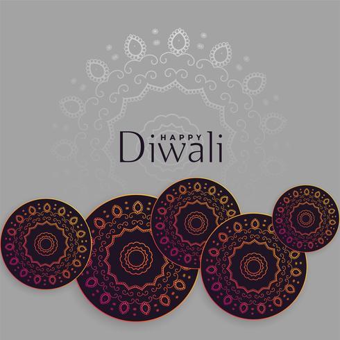 diwali bakgrund med mandala dekoration design