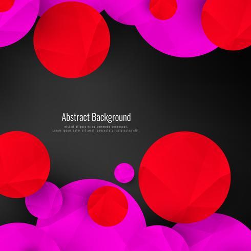 Fond abstrait cercles géométriques