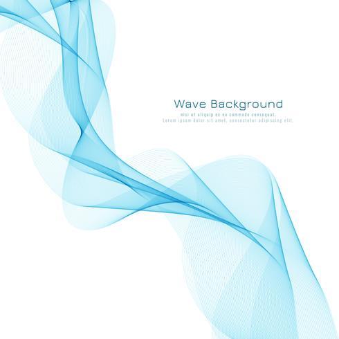 Design de fond abstrait bleu ondulé modernelegant