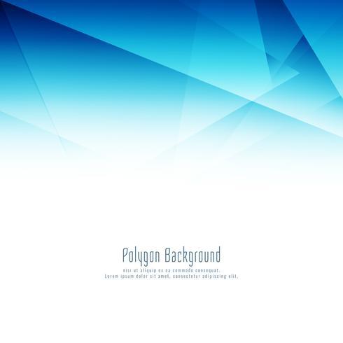 Abstrakt blå polygon design elegant bakgrund