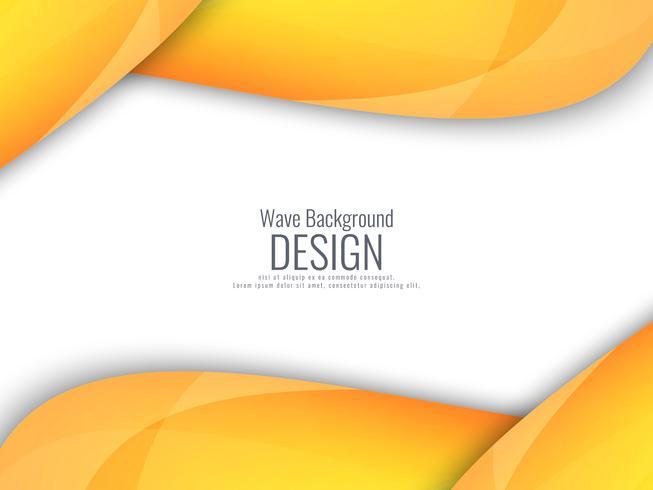 Abstrait ondulé jaune