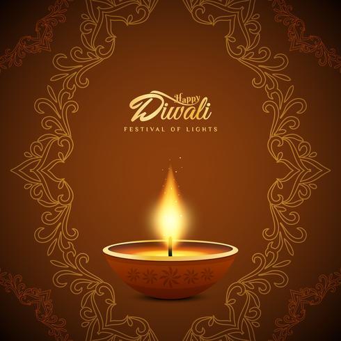 Abstrakt Glad Diwali Indisk festival bakgrundsdesign