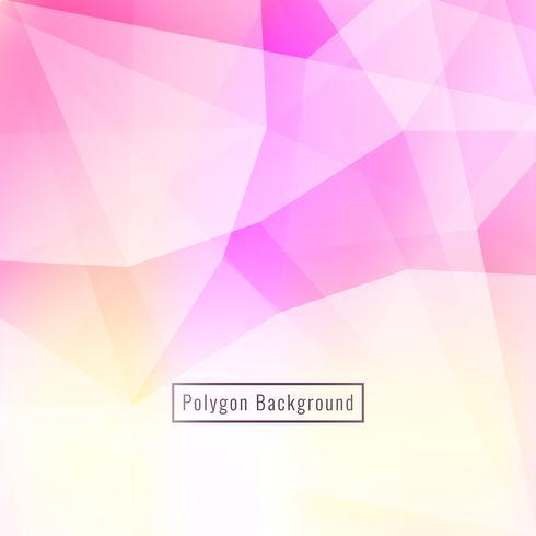 Fundo poligonal rosa abstrato