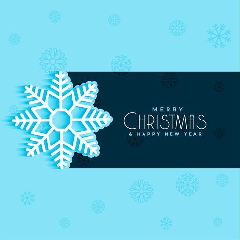 Diseño de copos de nieve de Navidad sobre fondo azul