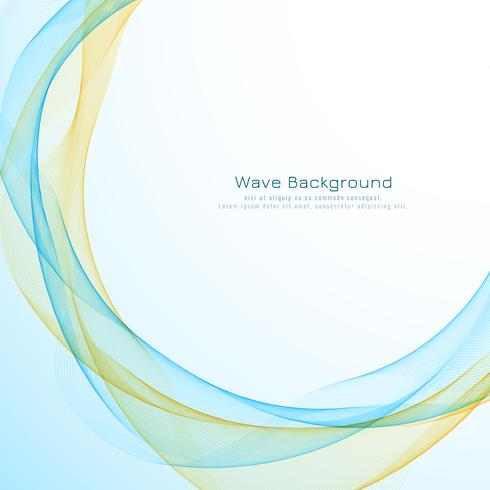 Abstract elegant wave background