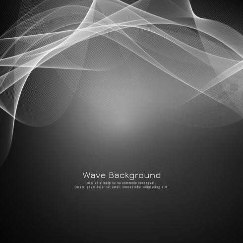 Eleganter Hintergrund der abstrakten grauen Welle