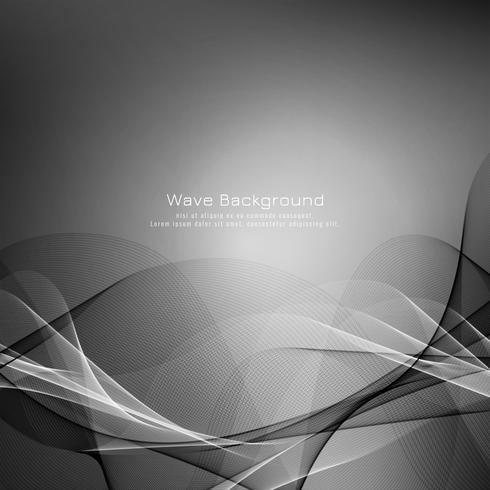 Abstrait vague grise élégante