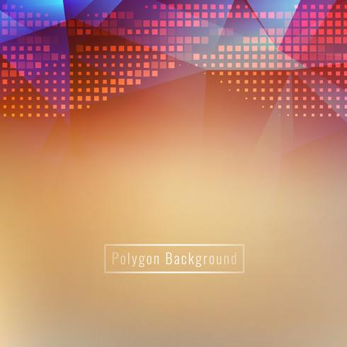 Fond abstrait polygone coloful lumineux
