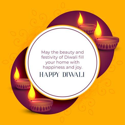 modèle de voeux joyeux festival indien diwali