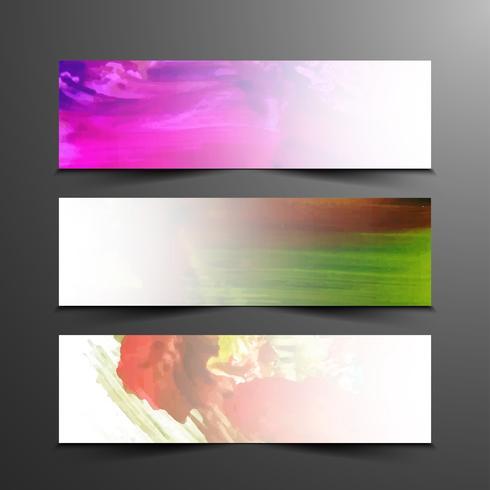 Set di bandiere moderne astratte