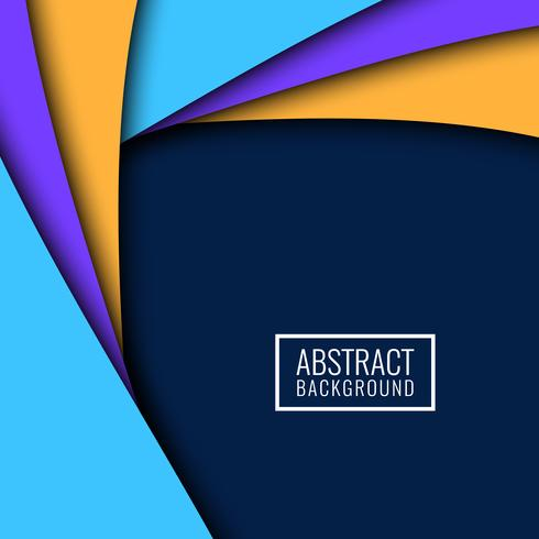 Abstract colorful papercut modern background