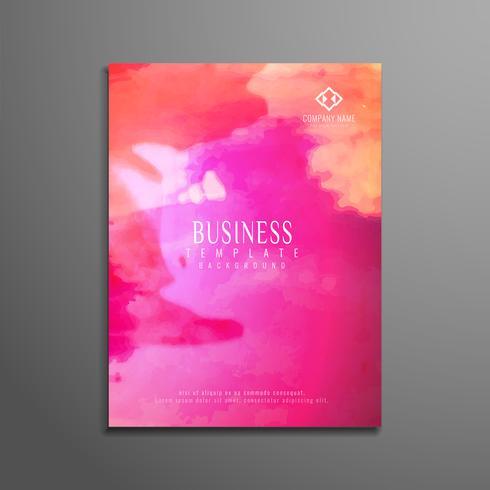 Conception de modèle de flyer affaires aquarelle abstraite