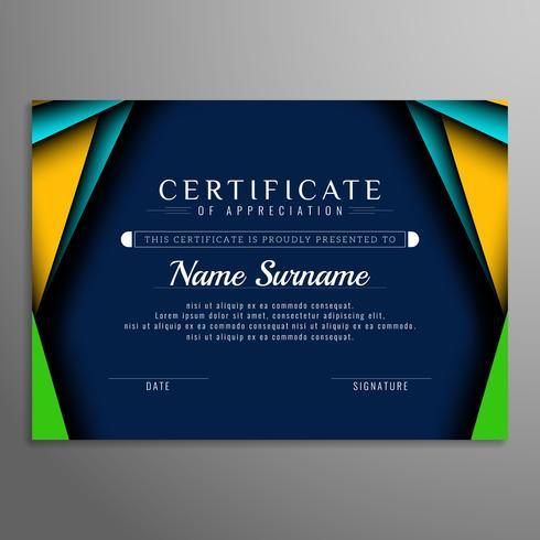 Abstrakt elegant färgstarkt certifikat bakgrund