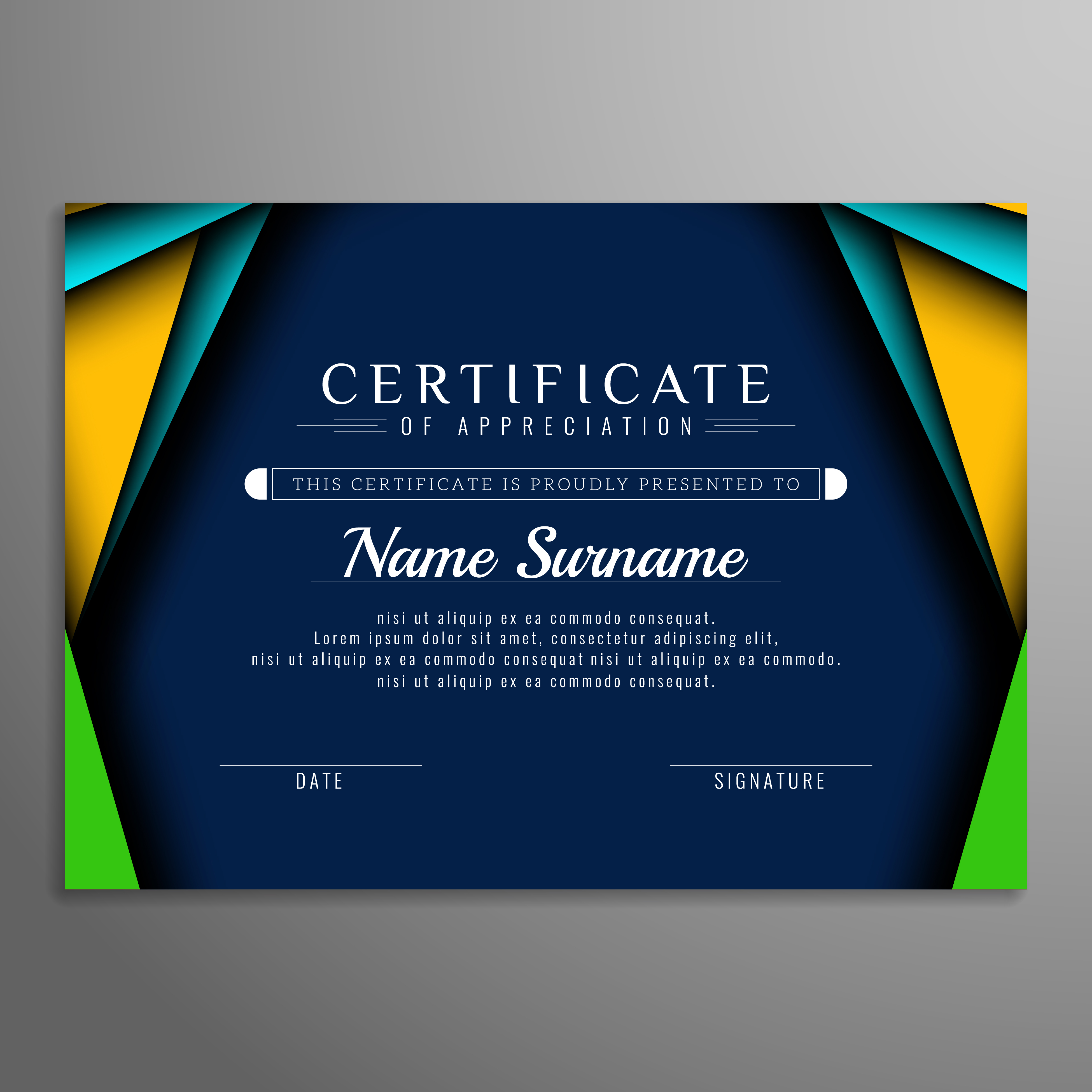 Abstract Elegant Colorful Certificate Background Download Free Vectors Clipart Graphics Vector Art