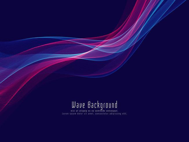 Fondo abstracto colorido elegante de la onda que brilla intensamente vector