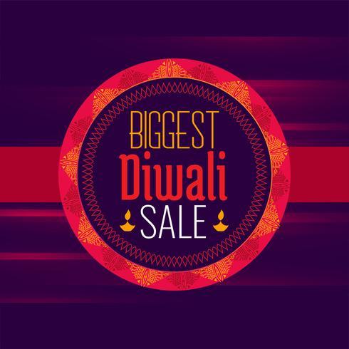 modelo de design de cartaz de venda diwali em estilo étnico