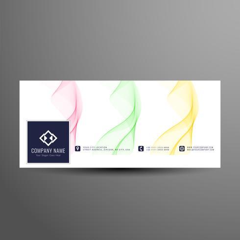 Plantilla de banner de línea de tiempo de facebook ondulado abstracto