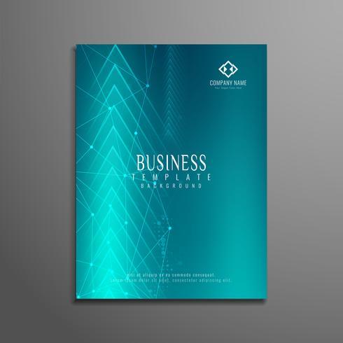 Design de modelo de panfleto de negócio abstrato