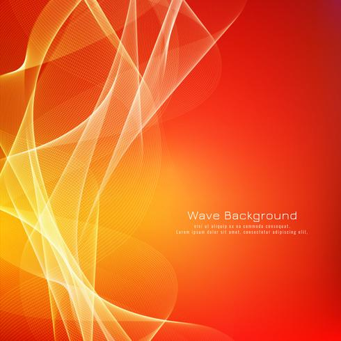 Abstraktes buntes Wellenhintergrunddesign vektor
