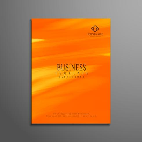 Conception de modèle de flyer abstrait affaires