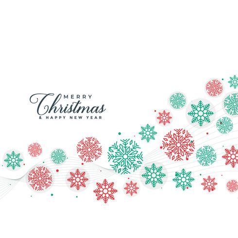 Fondo elegante feliz Navidad copos de nieve