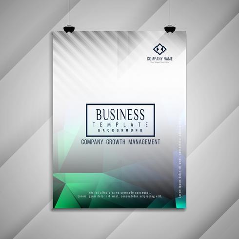Abstract geometrisch het malplaatjeontwerp van de bedrijfsbrochure