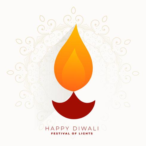 fête de diwali créative simple salut diya