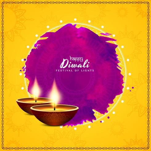 Abstrakter schöner glücklicher Diwali-Festival-Grußhintergrund