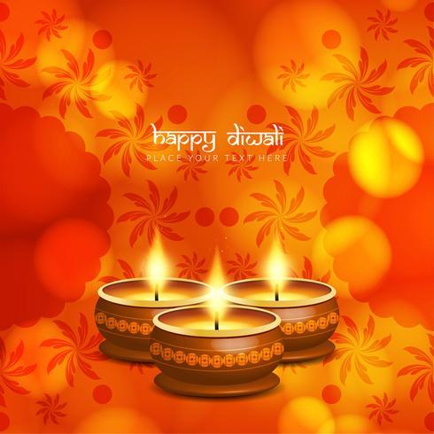 Abstrato bonito feliz Diwali saudação fundo design