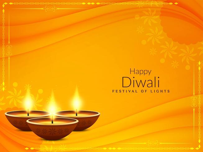 Resumo feliz Diwali fundo saudação religiosa