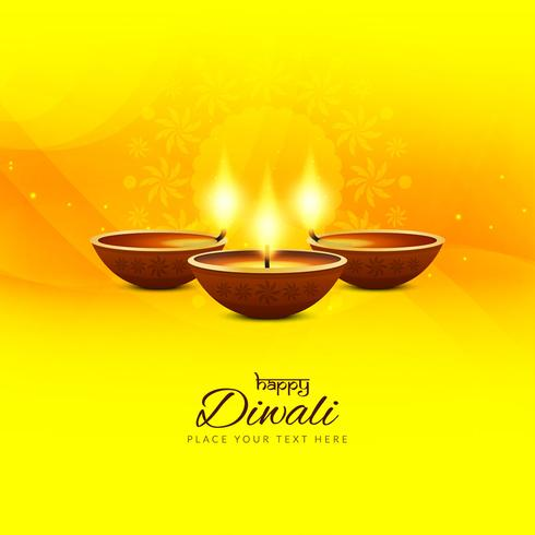 Fundo elegante feliz Diwali feliz