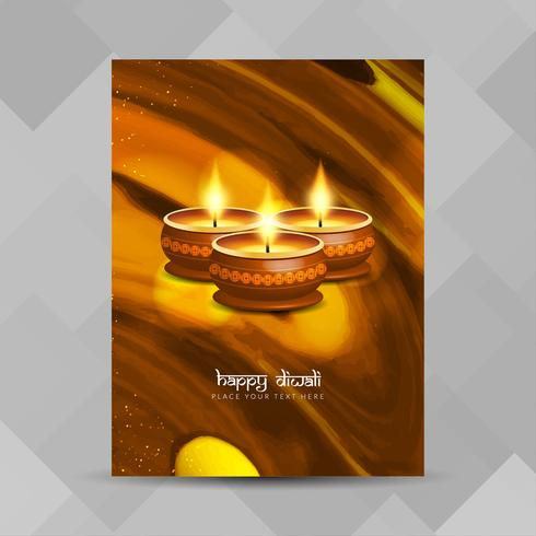 Abstrait Joyeux Diwali festival brochure design