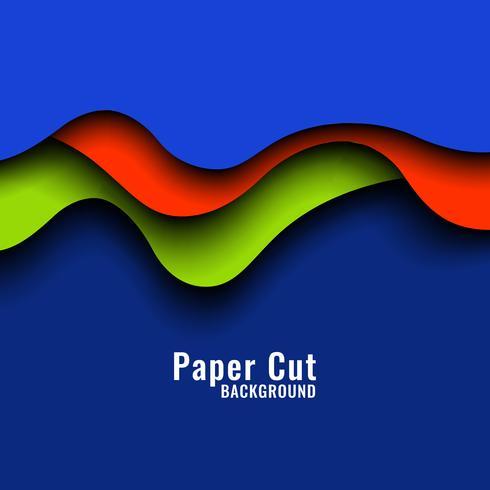 Papercut coloré abstrait