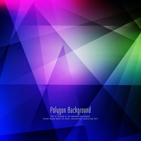 Astratto elegante colorato sfondo geometrico