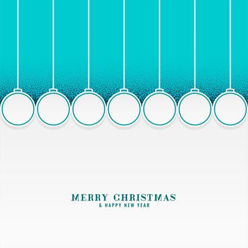 joyeux fond de vacances de Noël avec des balles suspendues