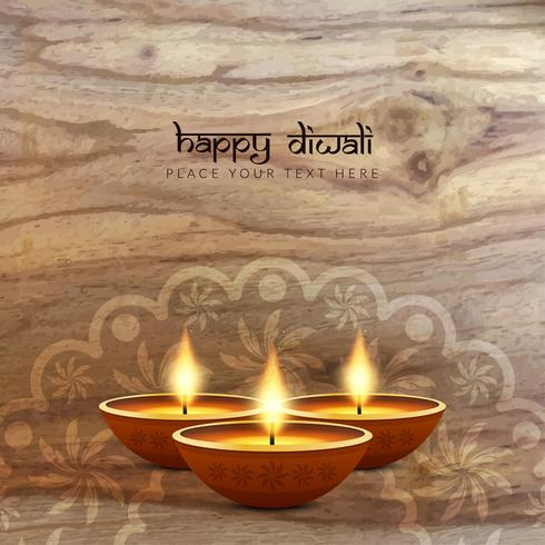 Abstrait joyeux Diwali texture du bois