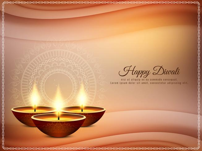 Abstrakter glücklicher religiöser Grußhintergrund Diwali