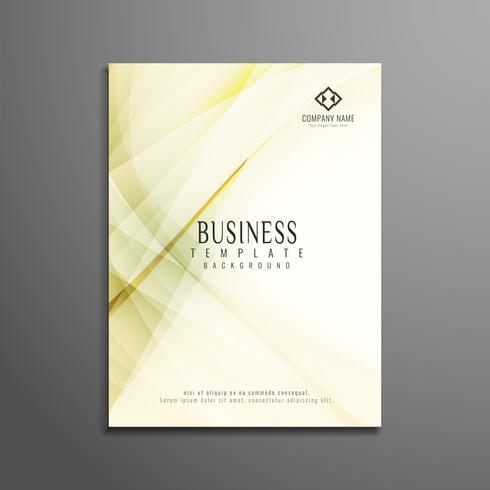 Abstract business flyer wave design template